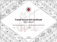 Foxtail Gift               Certificate